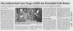 Siegener Tangotag Artikel Westfälische Rundschau
